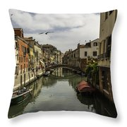The Streets Of Venice Throw Pillow