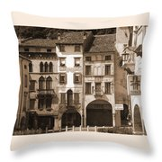 The Streets Of Vittorio Veneto Throw Pillow