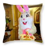 The St.regis Easter Bunny Throw Pillow