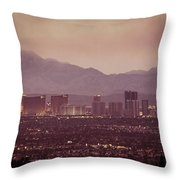 The Strip. 3 Of 4 Throw Pillow