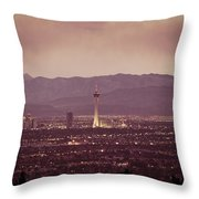 The Strip. 4 Of 4 Throw Pillow