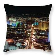 The Strip At Las Vegas,nevada Throw Pillow