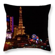 The Strip At Night 1 Throw Pillow