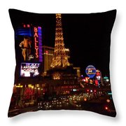 The Strip At Night 2 Throw Pillow