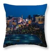 The Strip Las Vegas Throw Pillow