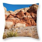 The Striped Rock Throw Pillow