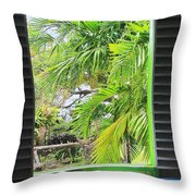 The Studio Window Throw Pillow