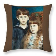 The Stuer Twins Throw Pillow