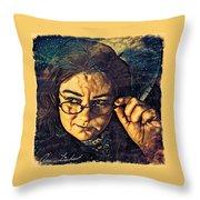 The Stumbling Aspirant Throw Pillow