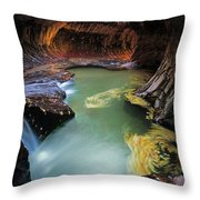 The Subway Colors Throw Pillow