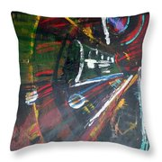The Subway Experience Throw Pillow
