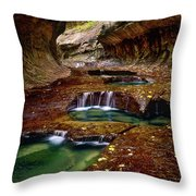 The Subway Throw Pillow