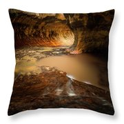 The Subway - Zion National Park Throw Pillow