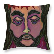 The Suffering King Throw Pillow