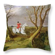 The Suffolk Hunt - Gone Away Throw Pillow