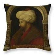 The Sultan Mehmet II Throw Pillow