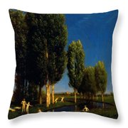 The Summer Day 1881 Throw Pillow