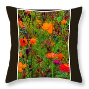 The Summer Flower Party Throw Pillow