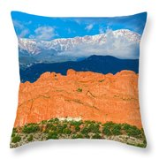 The Summit In The Mist  Throw Pillow