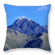 The Summit Of Mount Cotacachi Throw Pillow