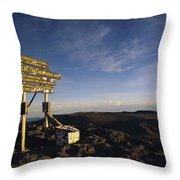 The Summit Of Mt. Kilimanjaro, Africas Throw Pillow