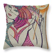 The Sun And The Girl Throw Pillow