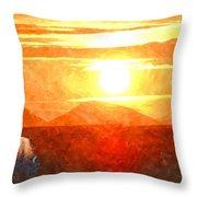 The Sun Dance Throw Pillow
