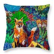 The Sun Fox Throw Pillow