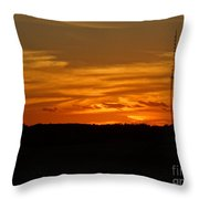 The Sun Has Set In Cape Cod Throw Pillow