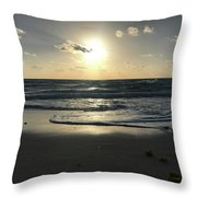 The Sun Is Rising Over The Ocean Throw Pillow