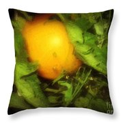The Sun Is Sleeping In The Garden Throw Pillow