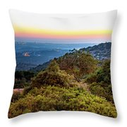 The Sun Of The Evening Of The Mountain And Sea Throw Pillow