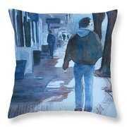 The Sun Peeks Out At 2nd Street Throw Pillow