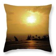 The Sun Rises Throw Pillow