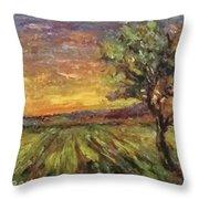The Sun Rising / El Sol Naciente Throw Pillow