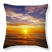 The Sun Says Goodnight Throw Pillow