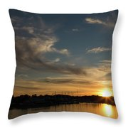 The Sun Sets In Milford Throw Pillow