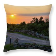 The Sun Sets On Block Island Throw Pillow