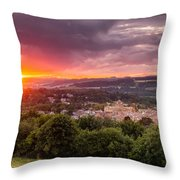 The Sun Sets Over Hexham Throw Pillow