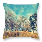 The Sunday Trees Throw Pillow