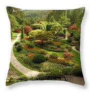 The Sunken Garden At Butchart Gardnes Throw Pillow