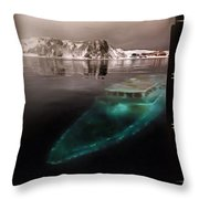The Sunken Yacht Throw Pillow