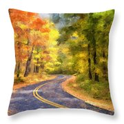 The Sunny Side Of The Street Throw Pillow by Lois Bryan