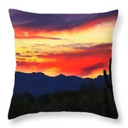 Sunrise In Tucson  Throw Pillow