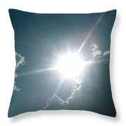 The Sun's Beams Throw Pillow