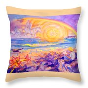 The Sun's Words Throw Pillow
