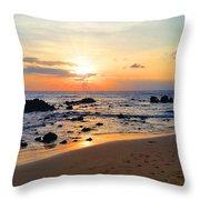 The Sunset Of Maui Throw Pillow