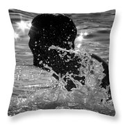 The Sunset Swim Throw Pillow
