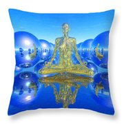 The Superficial Illusion Of Duality Throw Pillow