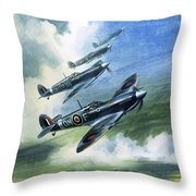 The Supermarine Spitfire Mark Ix Throw Pillow